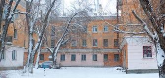 Paysage de ville d'hiver Photographie stock libre de droits