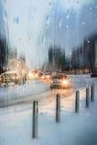 Paysage de ville d'hiver Photo libre de droits