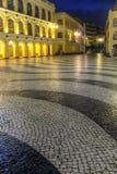 Paysage de ville dans la nuit photographie stock