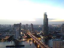 Paysage de ville de Bangkok Photo libre de droits