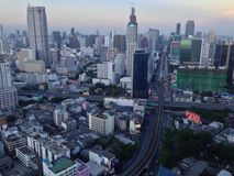 Paysage de ville de Bangkok Photo stock