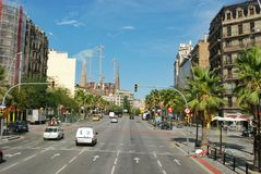 Paysage de ville de Barcelone photo stock