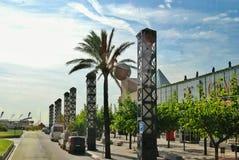 Paysage de ville de Barcelone images stock