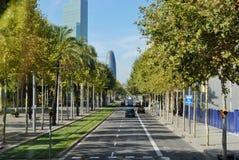 Paysage de ville de Barcelone photos libres de droits