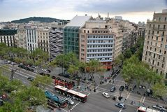 Paysage de ville de Barcelone photos stock