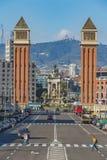 Paysage de ville de Barcelone, endroit Espana, le 1er novembre 2016 Photographie stock libre de droits