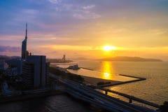 Paysage de ville de Fukuoka au Japon Photo libre de droits
