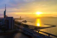 Paysage de ville de Fukuoka au Japon Photographie stock