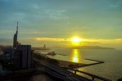 Paysage de ville de Fukuoka au Japon Image libre de droits