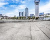 Paysage de ville de Jiangyin Image stock