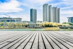 Paysage de ville de Jiangyin Images libres de droits
