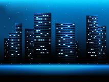 Paysage de ville de nuit illustration stock