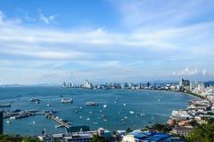 Paysage de ville de Pattaya, Thaïlande Photographie stock