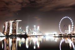 Paysage de ville de Singapour image stock