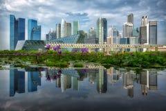 Paysage de ville de Singapour Photo libre de droits
