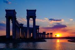Paysage de ville de Tianjin de la ville, Chine Images libres de droits