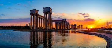 Paysage de ville de Tianjin de la ville, Chine Photo libre de droits
