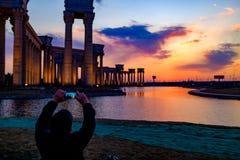 Paysage de ville de Tianjin de la ville, Chine Photographie stock