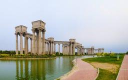 Paysage de ville de Tianjin de la ville, Chine Photo stock