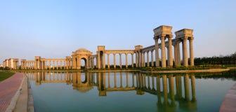 Paysage de ville de Tianjin de la ville, Chine Image libre de droits