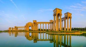 Paysage de ville de Tianjin de la ville, Chine Photographie stock libre de droits