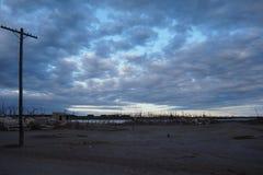Paysage de ville fantôme d'Epecuen Image stock