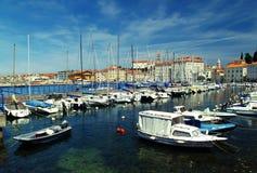 Paysage de ville historique de côte Images libres de droits