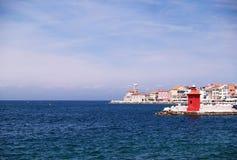 Paysage de ville historique de côte Photo stock