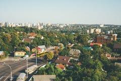 Paysage de ville de Kiev dans la lumière égalisante douce photographie stock