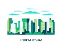Paysage de ville plat Vecteur urbain d'illustration de conception dans simple illustration libre de droits