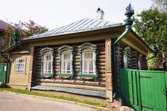 Paysage de ville de Plyos dans la région d'Ivanovo en Russie photographie stock libre de droits