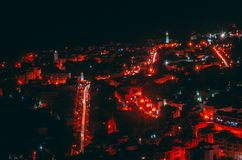 Paysage de ville rouge photo libre de droits