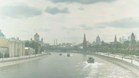 Paysage de ville, timelapse 4k banque de vidéos