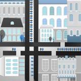Paysage de 04 villes Image libre de droits
