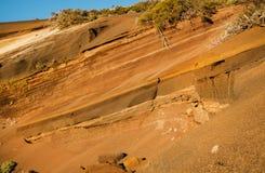 Paysage de Volcano Teide et de lave en parc national de Teide, paysage volcanique rocheux de la caldeira du parc national de Teid Photographie stock