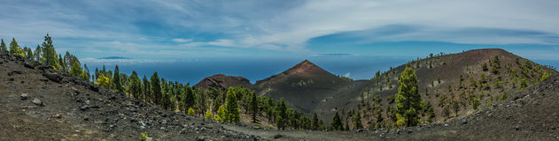 Paysage de volcans de Palma de La panoramique Images stock