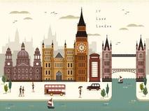 Paysage de voyage de Londres illustration de vecteur
