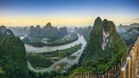Paysage de Xingping Photographie stock