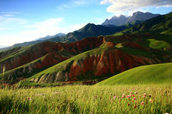 Paysage de Xining Thatcher Mountain photographie stock libre de droits
