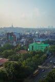 Paysage de Yangon pendant le matin, Myanmar Photo stock