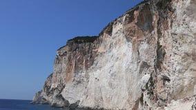 Paysage des îles ioniennes Grèce de Paxos de plage d'Erimitis banque de vidéos