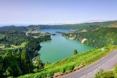 Paysage des Açores dans Lagoa DAS Sete Cidades Image libre de droits