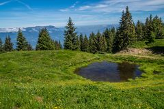 Mountainous of belledone,isere,france Stock Image