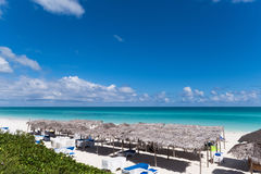 Paysage des Caraïbes de plage en Cayo Santa Maria Cuba - reportage de Serie Cuba images libres de droits