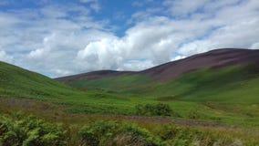 Paysage des montagnes août image stock
