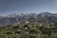 paysage des montagnes blanches Image libre de droits