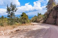 Paysage des montagnes près de San Pedro Pinula au Guatemala Image libre de droits