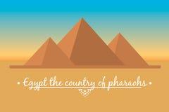 Paysage des pyramides égyptiennes Images libres de droits