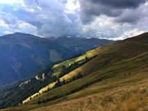 Paysage dramatique dans les Alpes Photos libres de droits