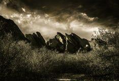 Paysage dramatique de montagne Photo stock